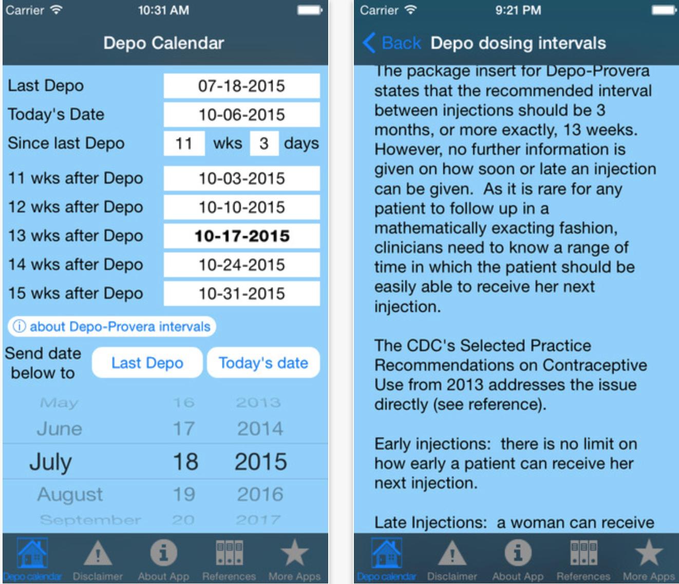 Depo Provera Date Chart | Calendar Template Printable