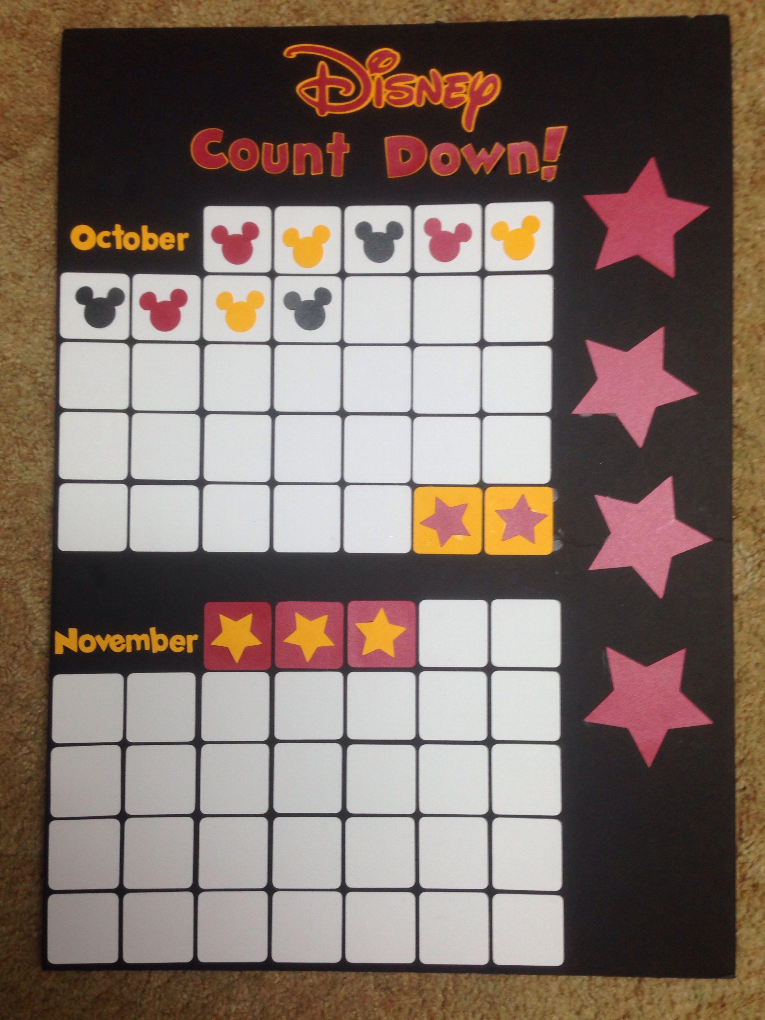 Disney Countdown Calendar!   Alexis' Pinterest Projects