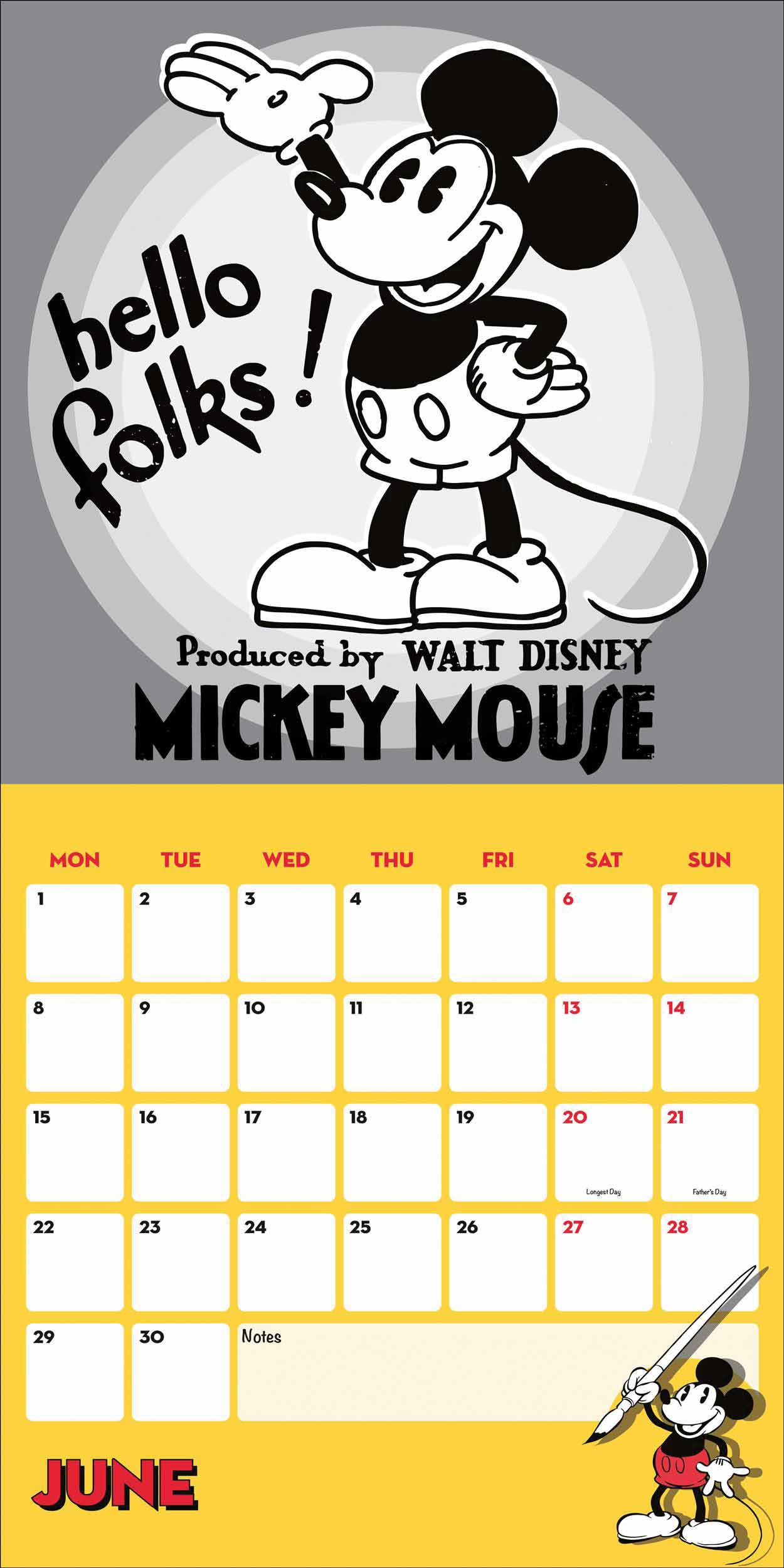 Disney, Mickey Mouse Official Calendar 2020