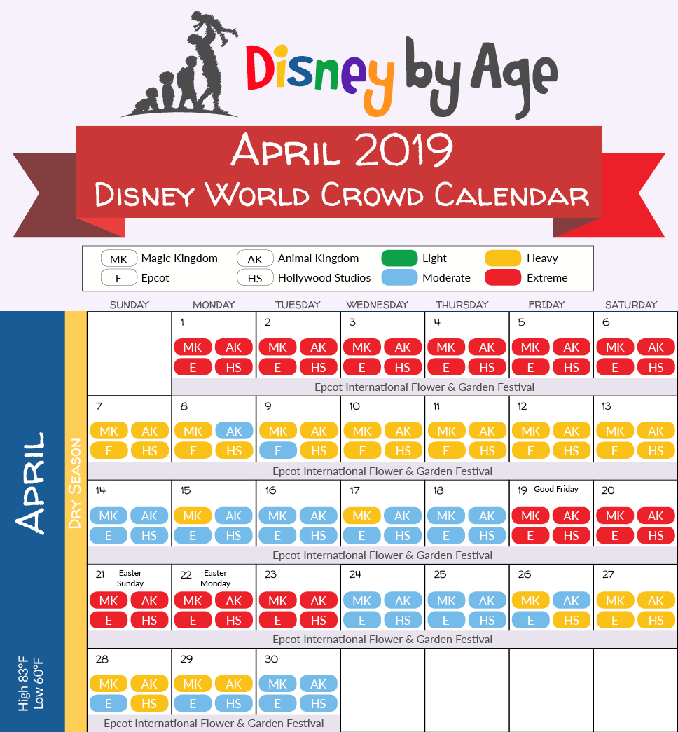 Disney World Crowd Calendar 2018 And 2019