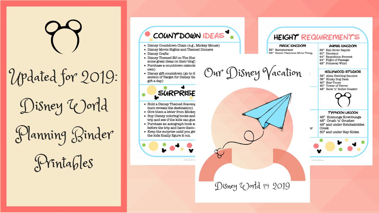 Disney World Planning Binder (Free Download) - Edutaining