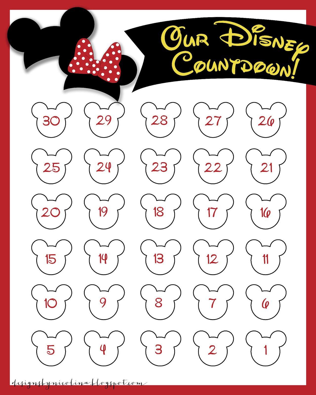 Disneyland Countdown Calendar   Designsnicolina: Disney