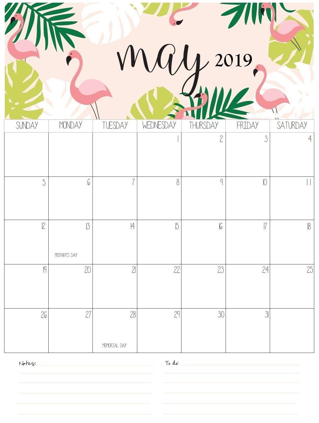 Download May 2019 Printable Calendar Template Free