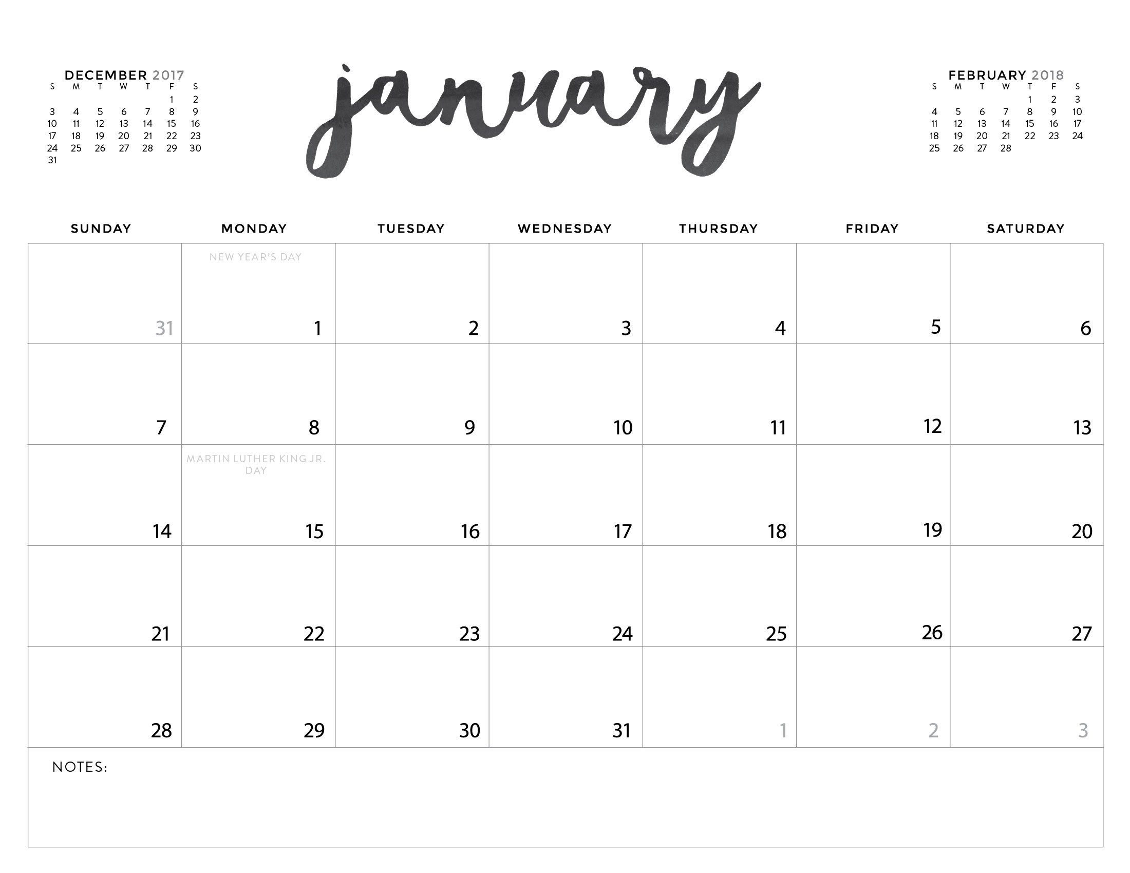 Download Your Free 2018 Printable Calendars Today! There Are