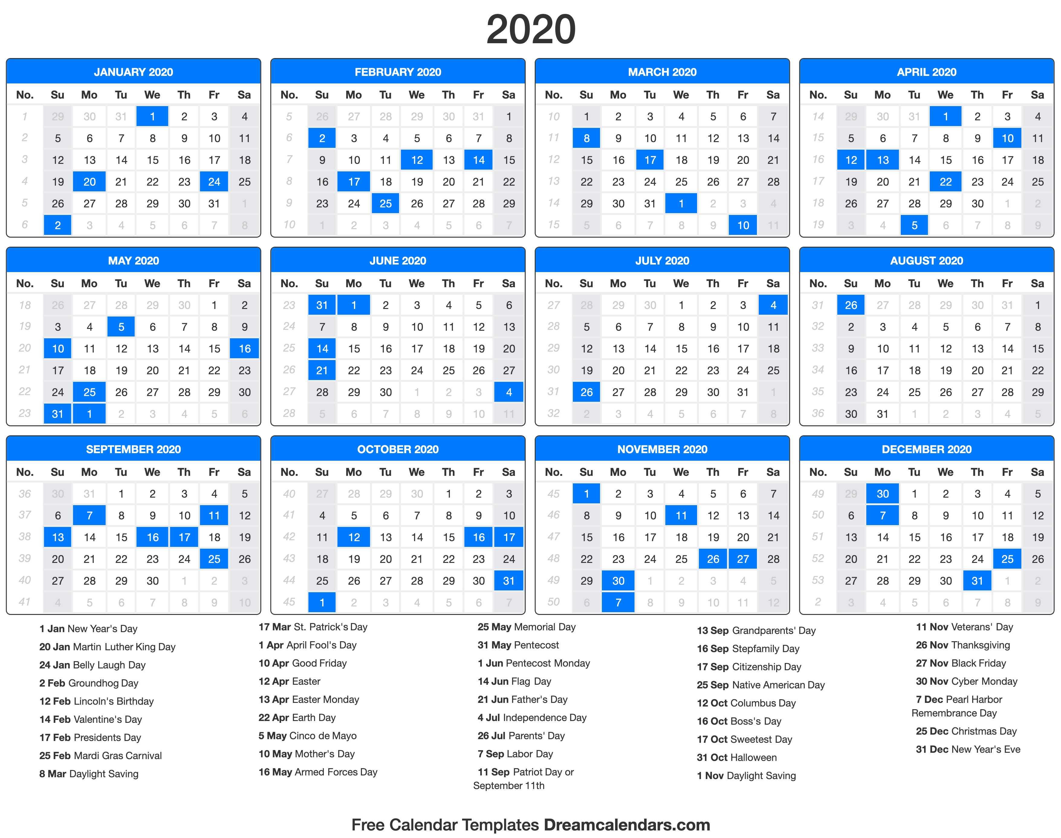 Dream Calendars - Make Your Calendar Template Blog: 2019