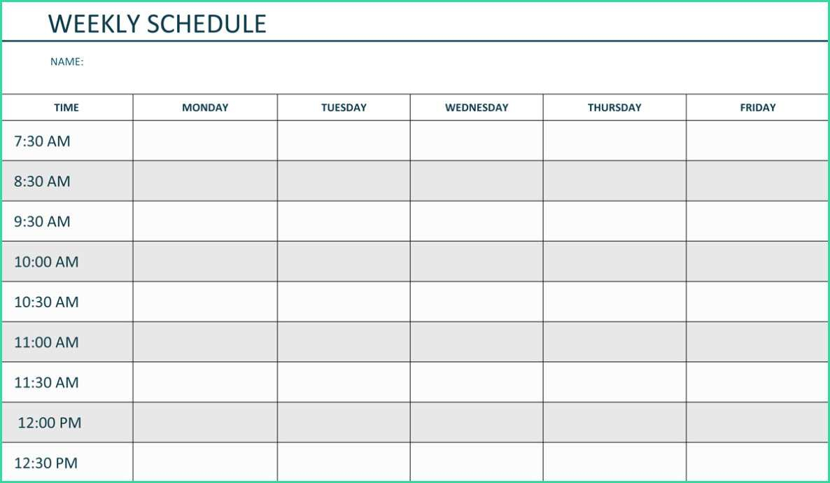 Easy Monday Friday Calendar Template Word Of Free Printable