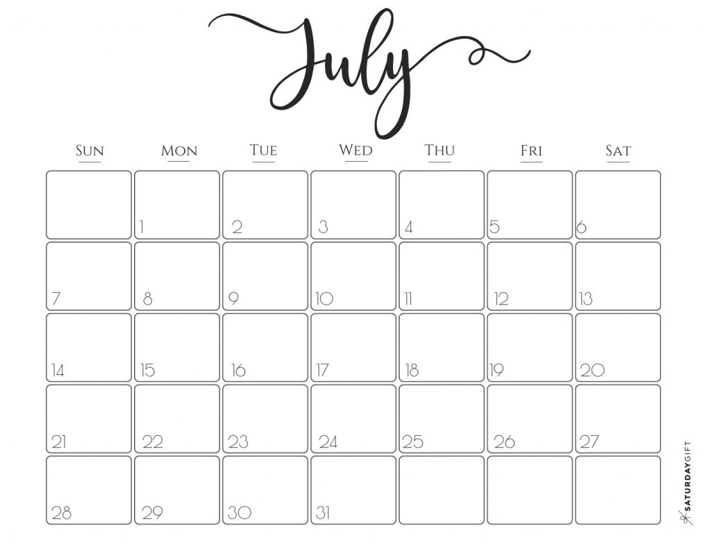 Elegant 2019 Calendar {Free Printables} | Saturdaygift