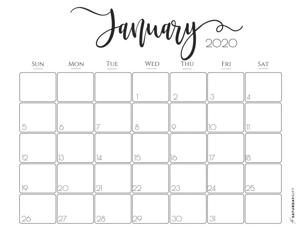 Elegant 2020 Calendar {Free Printables} | Printable