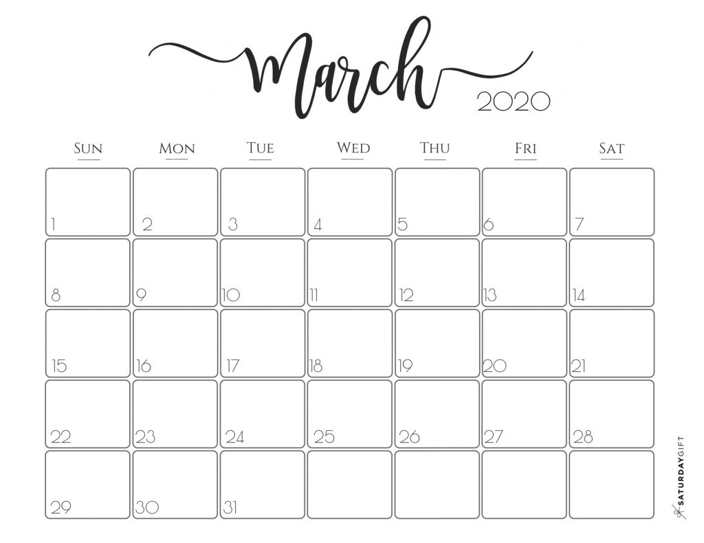 Elegant 2020 Calendar {Free Printables} | Saturdaygift