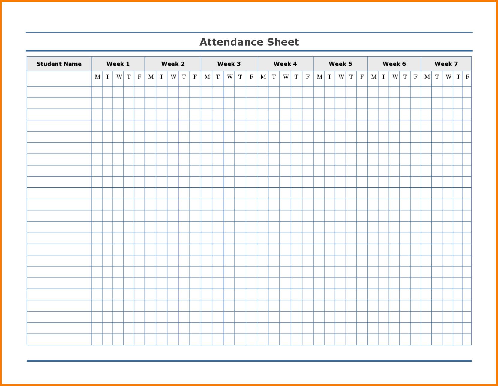 Employee Attendance Excel Sheet | Employee Attendance Sheet