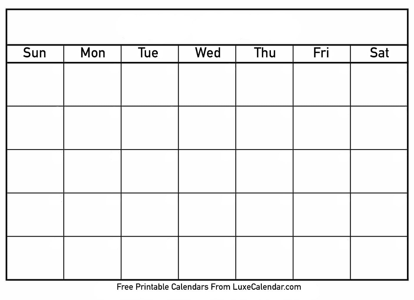 Empty Schedule Template Weekly Class Blank Printable
