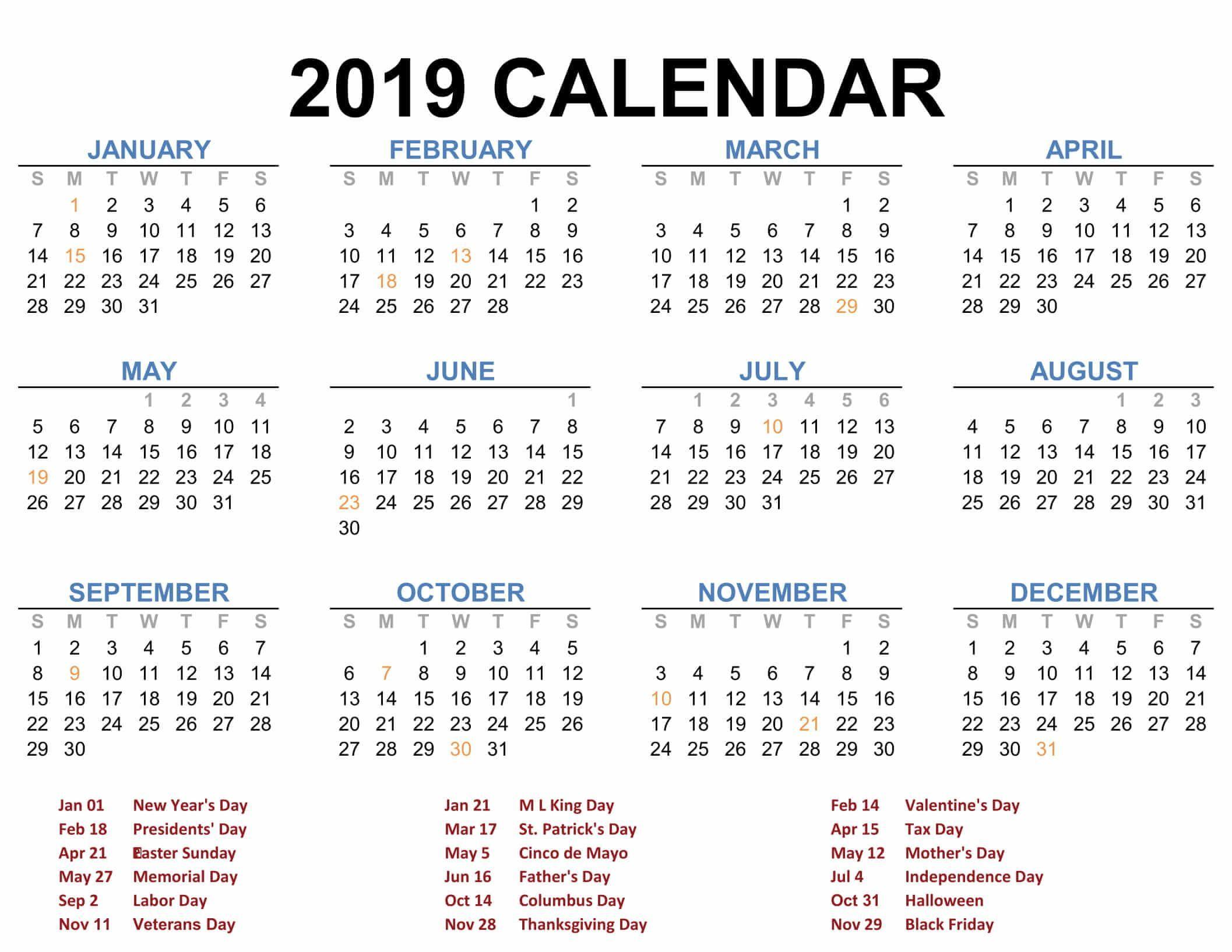 Every 2019 Holiday Calendar Public Holiday Malaysia | 2019
