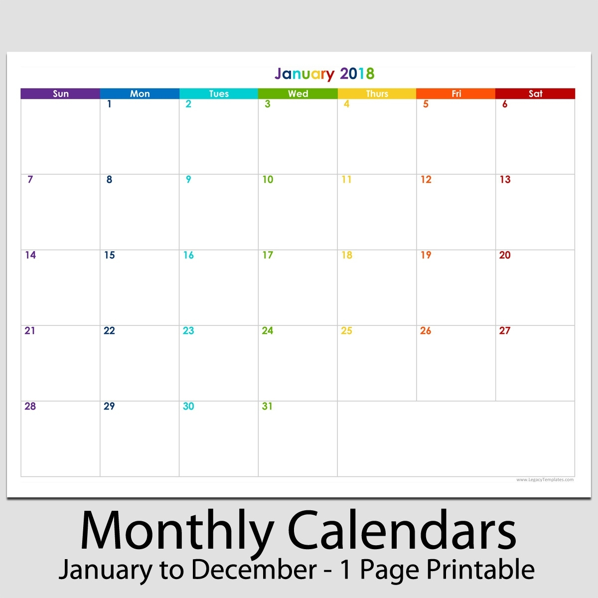 Exceptional 8.5X 11 Blank Calendar • Printable Blank