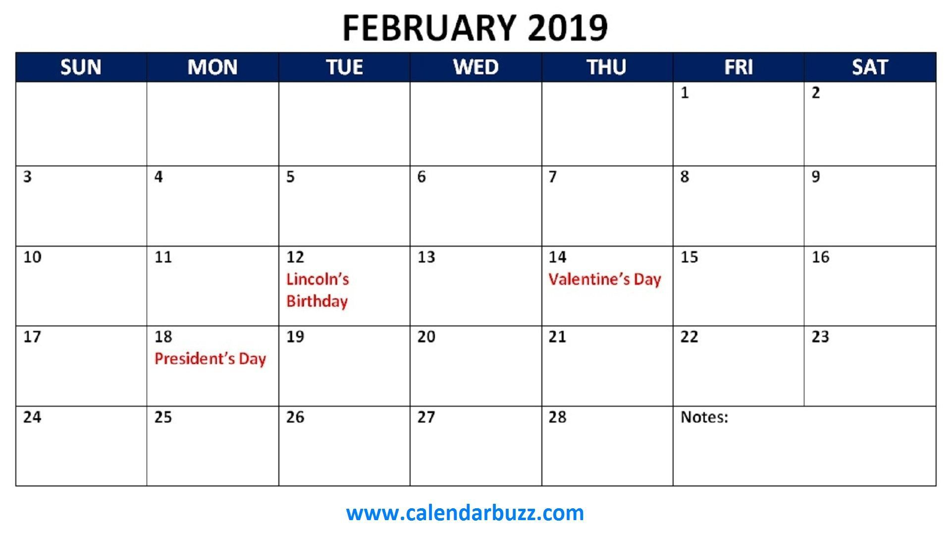 February 2019 Calendar Philippines With Holidays - Free