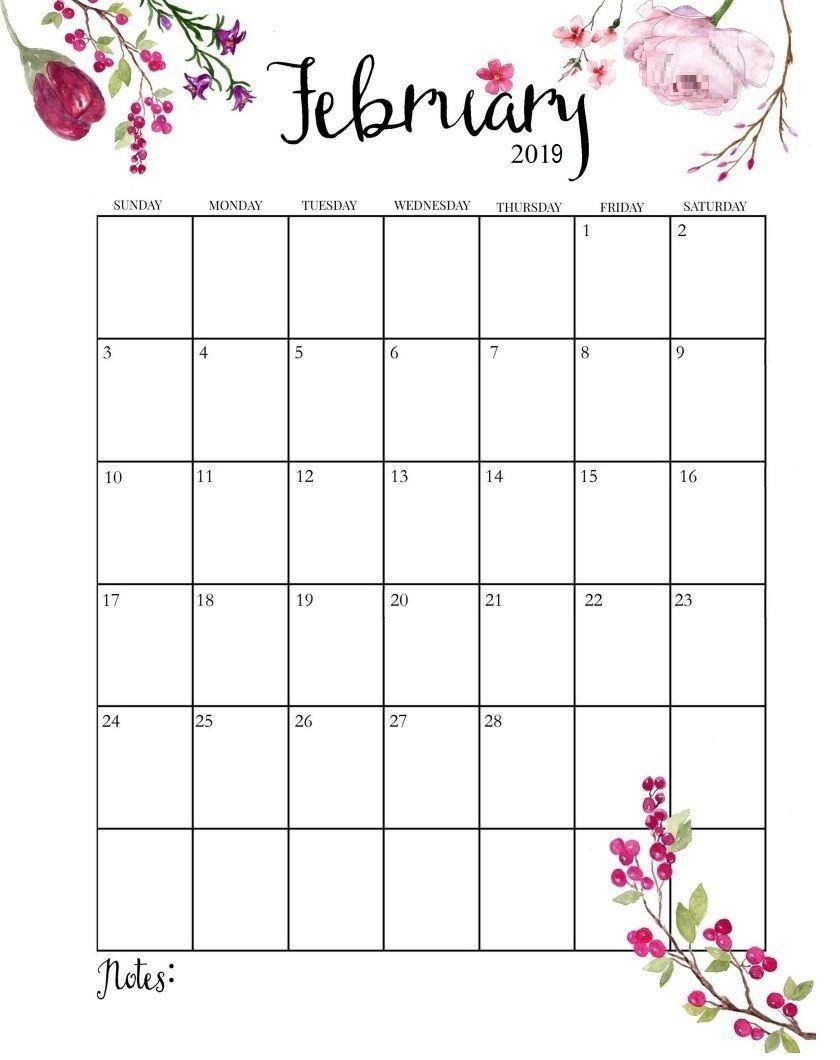 February 2019 Calendar | Planner 2019 | February Calendar