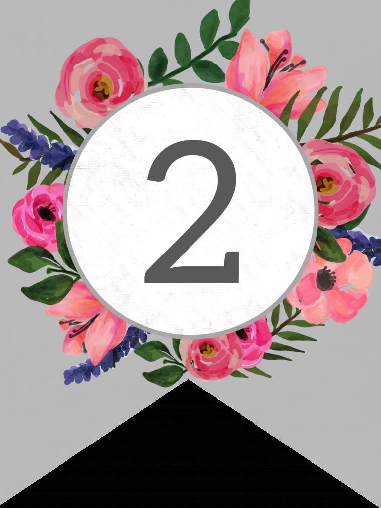 Floral Alphabet Banner Letters Free Printable   Украшения На