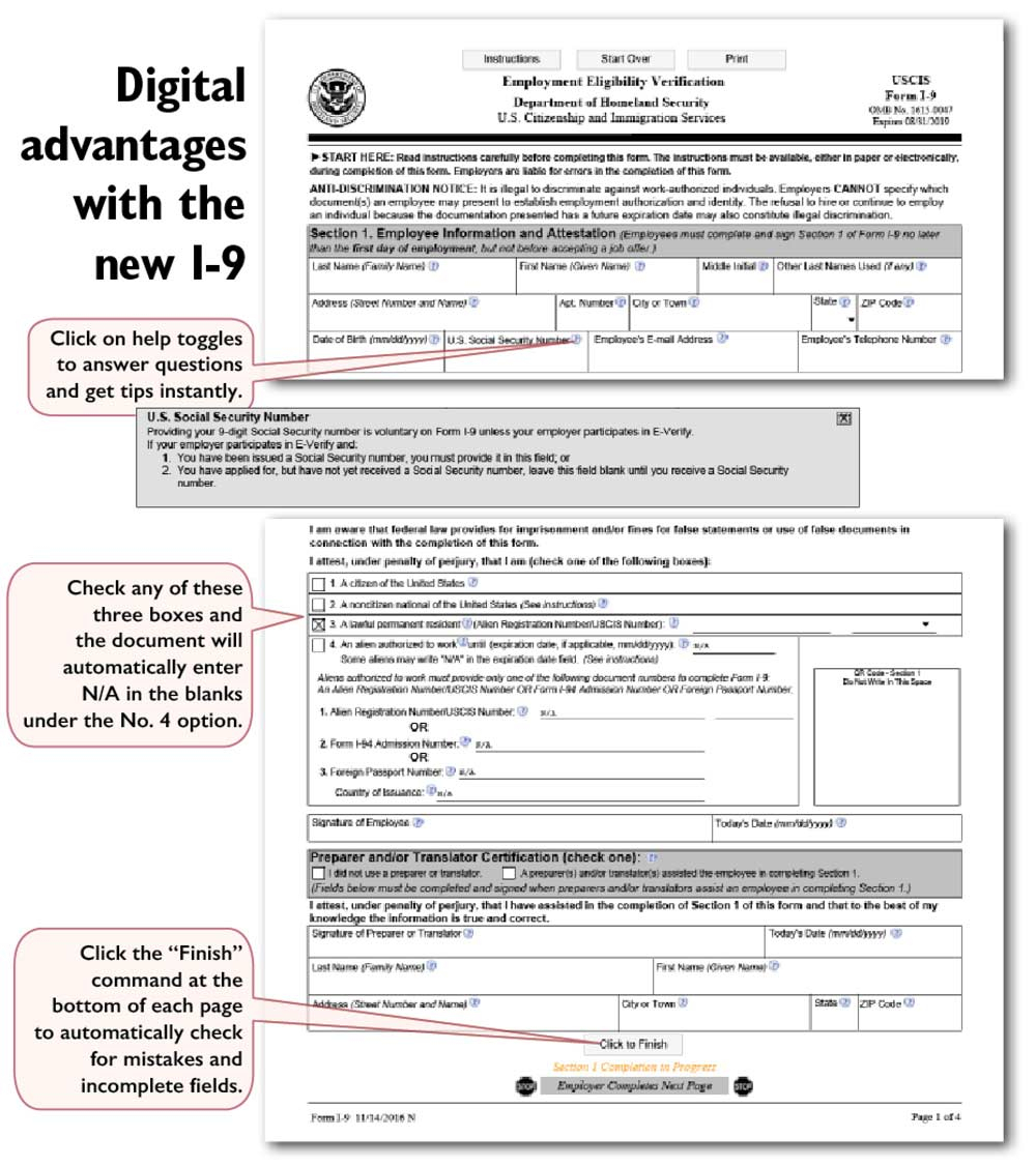 Form I 9 Employment Eligibility Verification Income Tax I-9