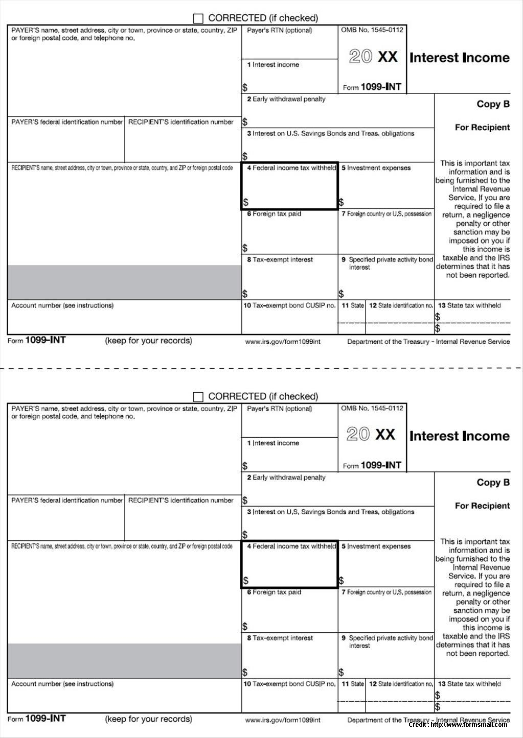 Free 1099 Tax Forms Printable Form 2014 Fillable W2 Photo