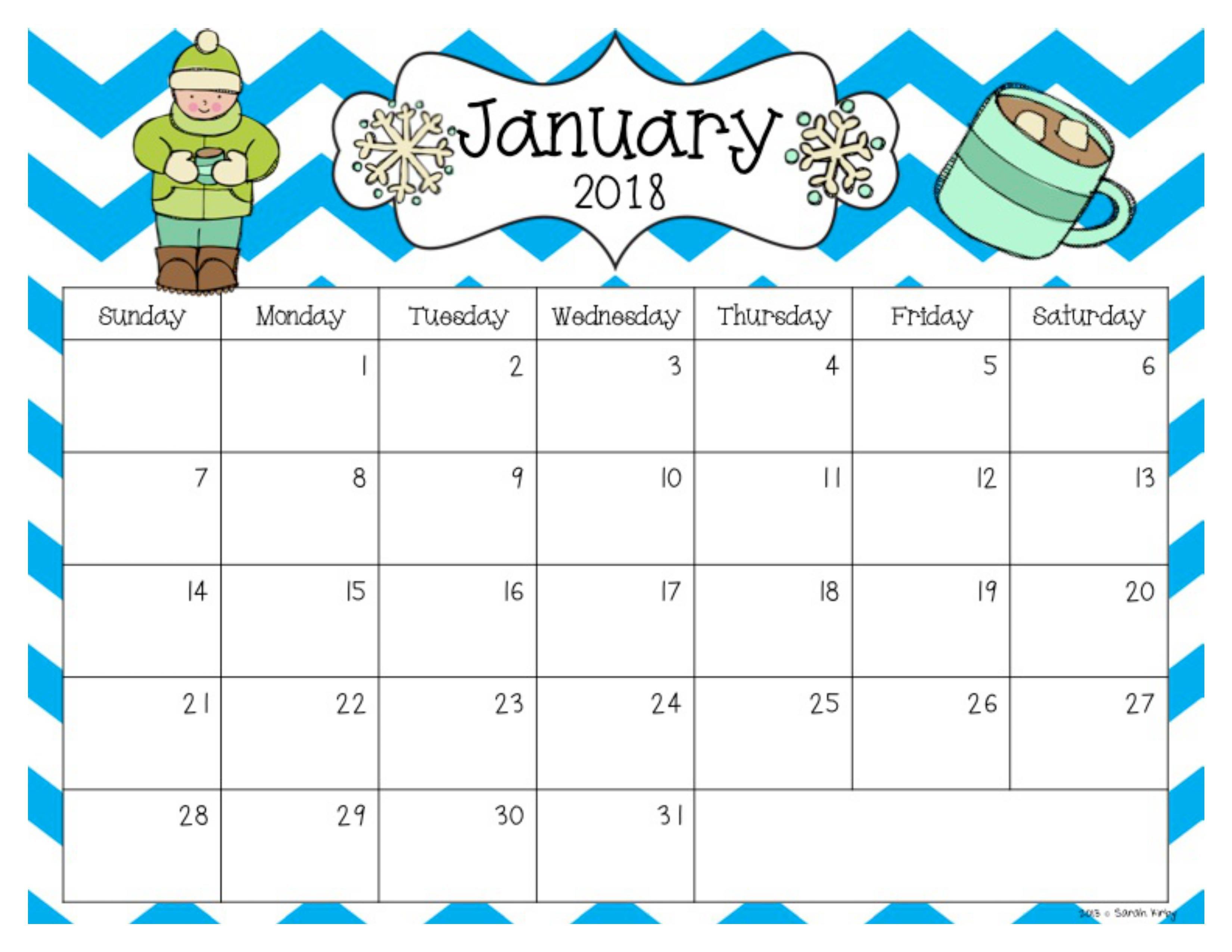 Free 2018 And 2019 Calendar | Classroom | Classroom Calendar