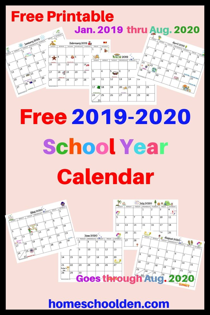 Free 2019-2020 Calendar Printable This Free Calendar