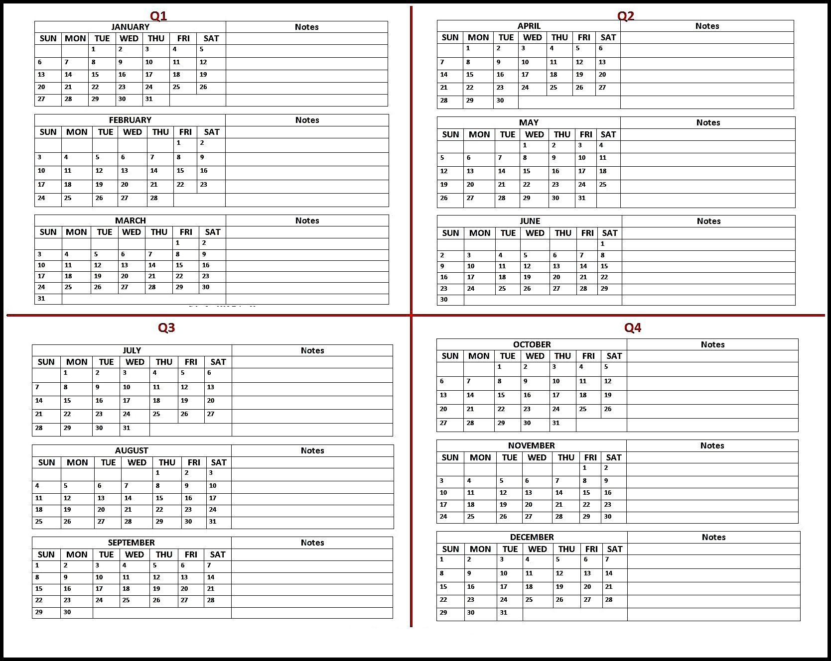 Free 2019 Calendar Printable Templates Blank Download