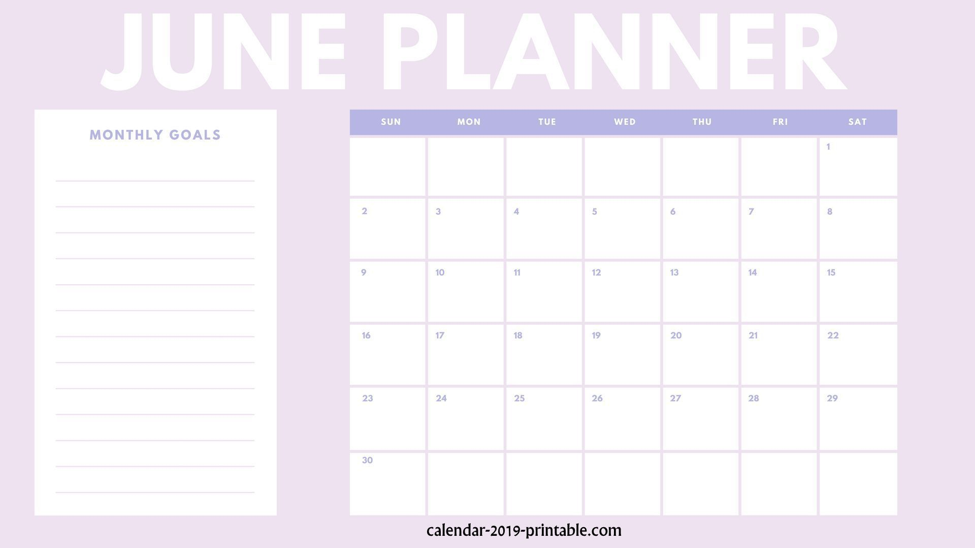 Free 2019 Planners From January To December | Calendar 2019