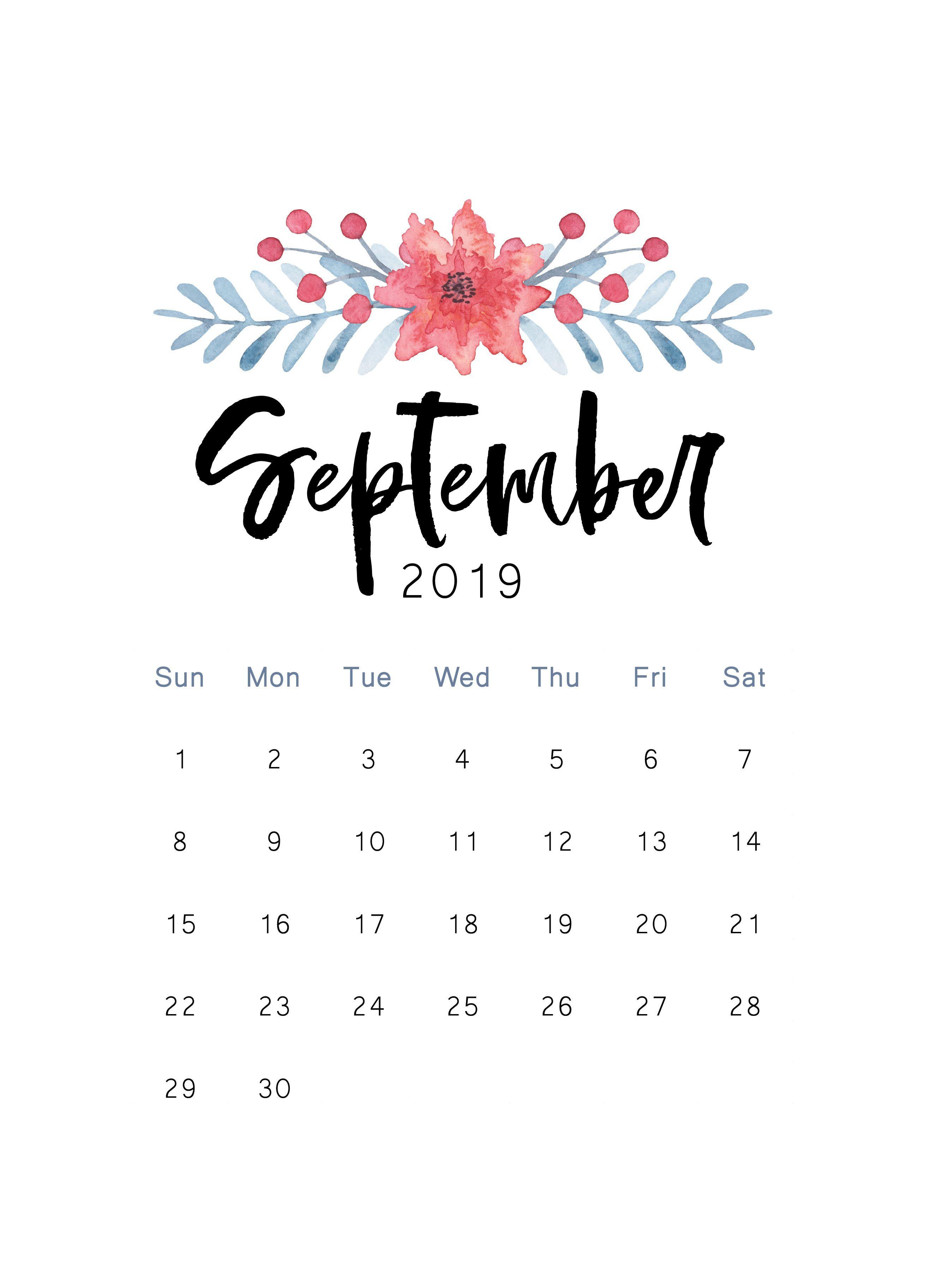 Free 2019 Printable Calendar | На Місяці Календар | Шпалери