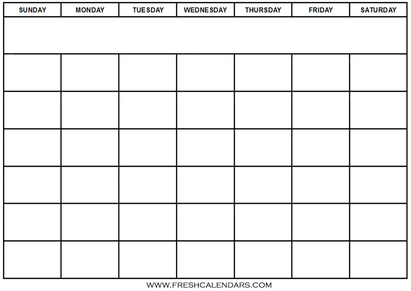 Free Blank Calendar Template | Isacl