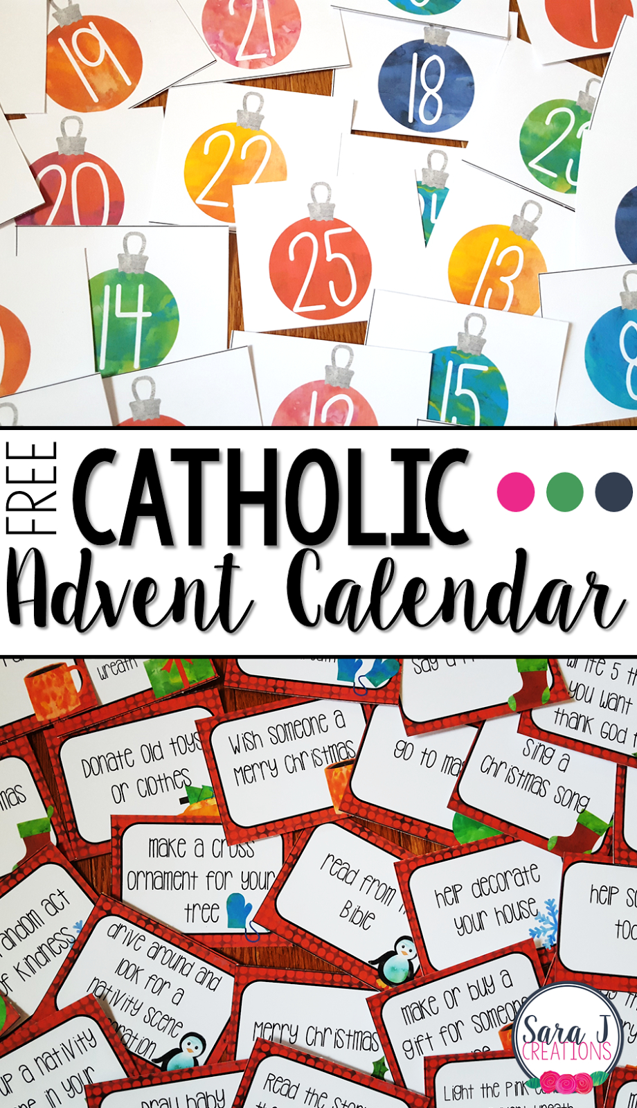Free Catholic Advent Calendar | Sara J Creations