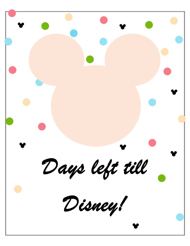 Free Disney Countdown Printables - The Pickled Procrastinator