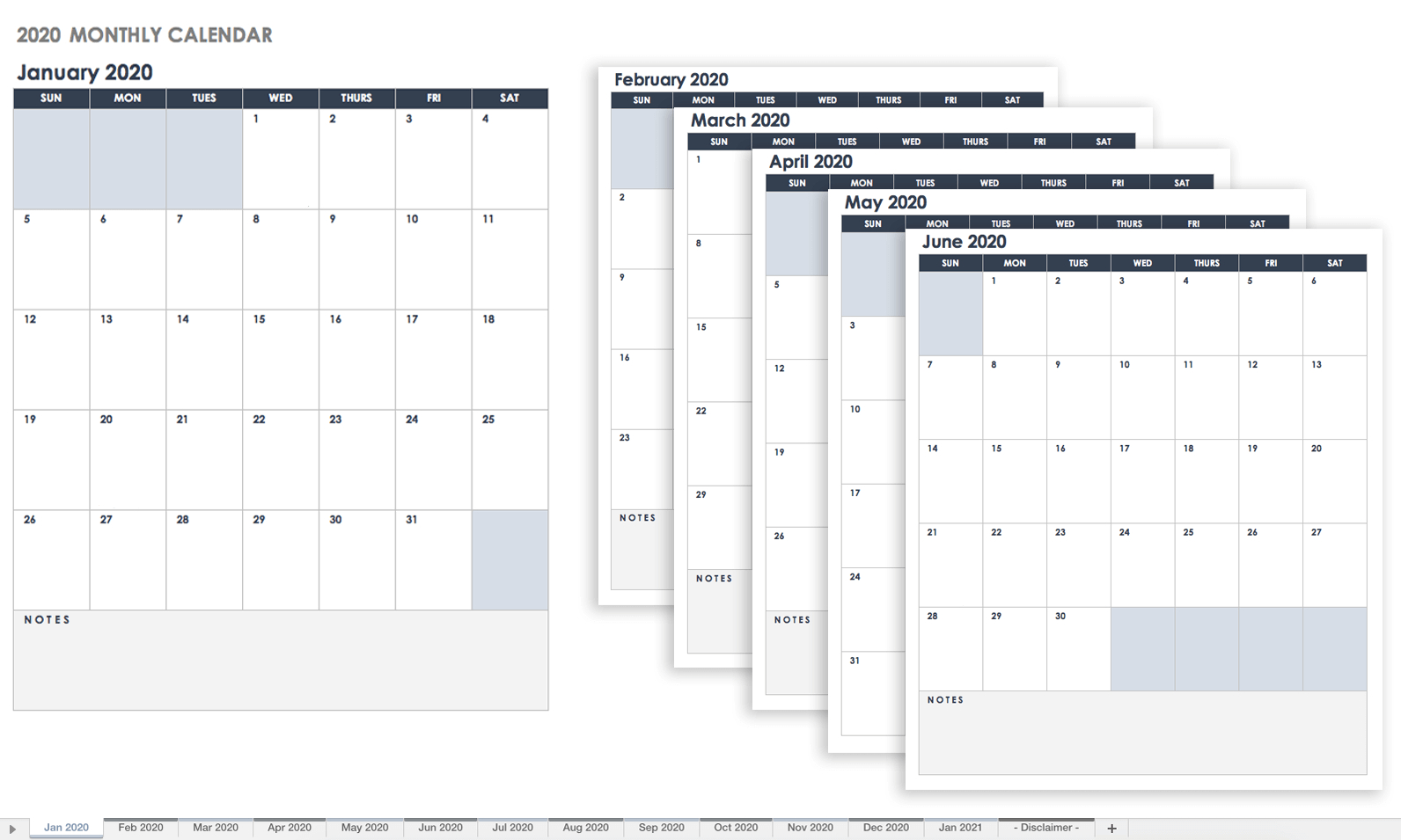 Free Google Calendar Templates | Smartsheet