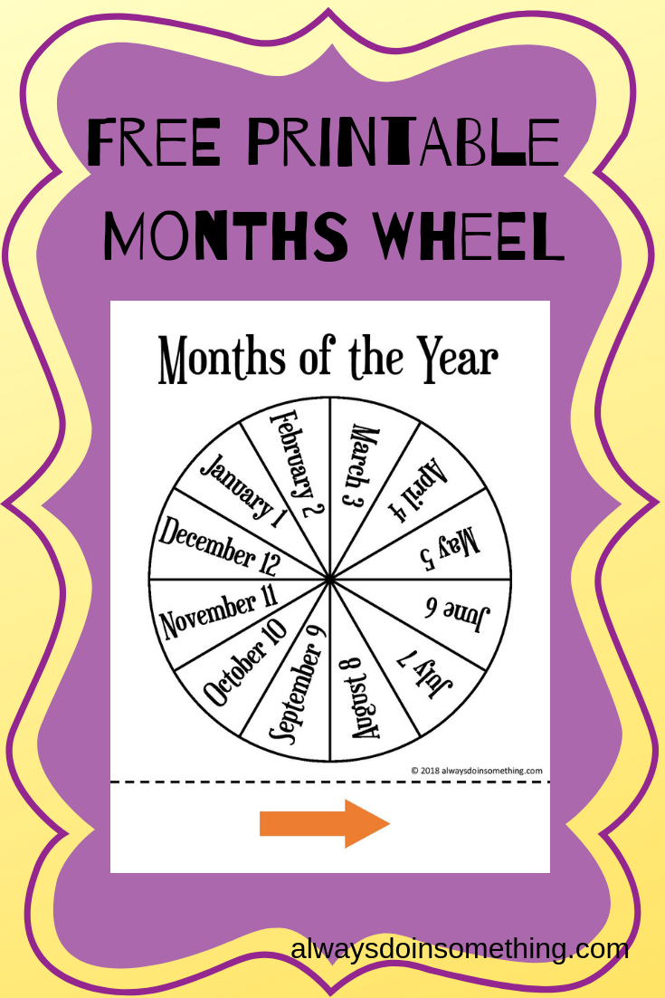Free Months Of The Year Wheel