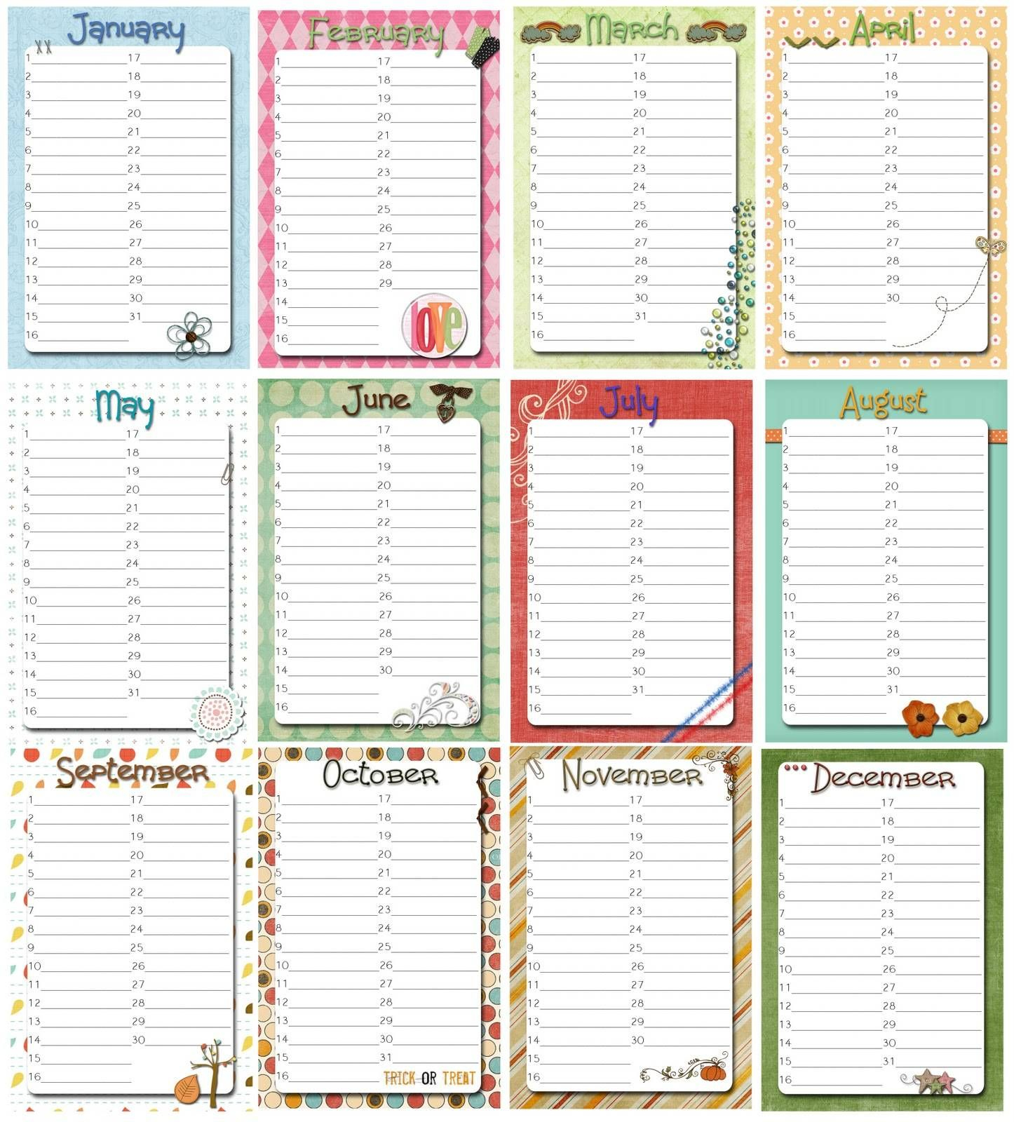 Free Perpetual Calendar Template | Posts Related To