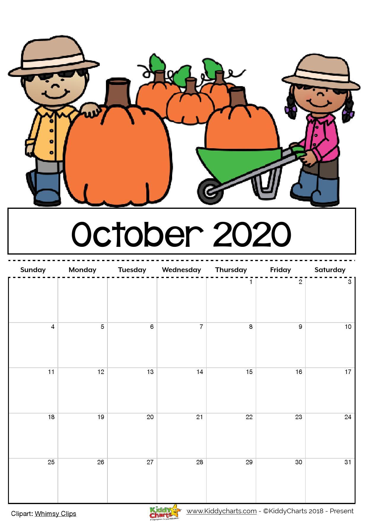 Free Printable 2020 Calendar For Kids, Including An Editable