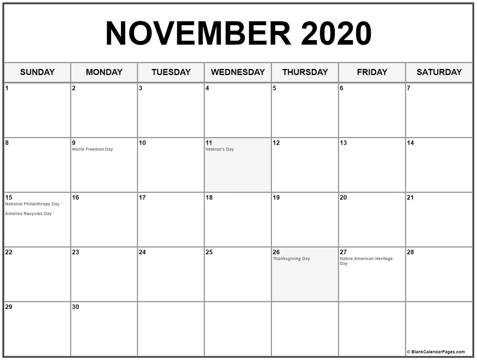 Free Printable 2020 Calendar With Holidays 8 - Crearphpnuke