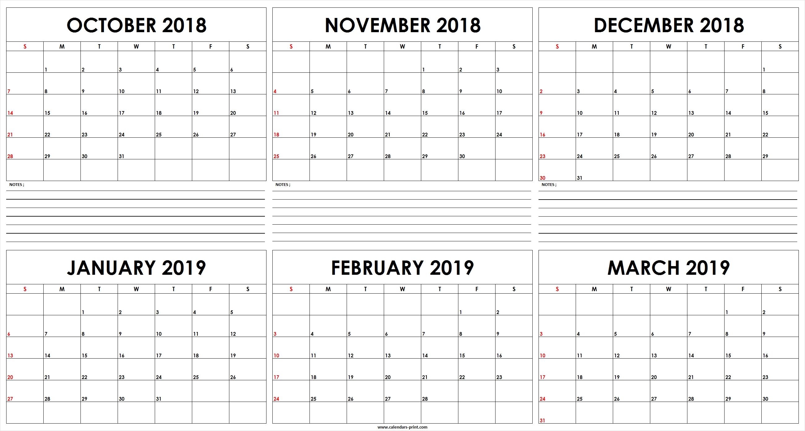 Free Printable 6 Month Calendar Template • Printable Blank