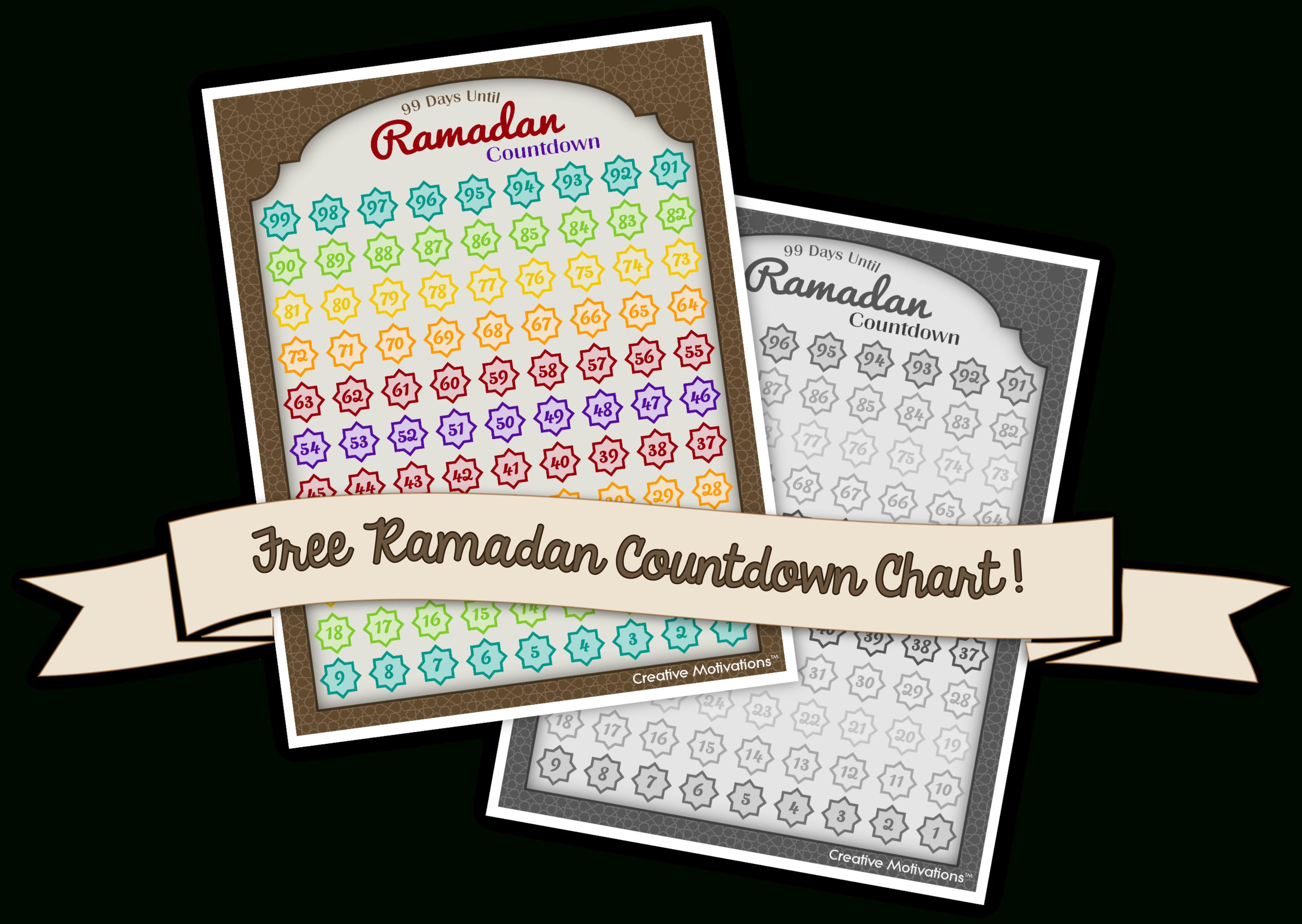 Free Printable: 99 Days Til Ramadan Countdown Chart