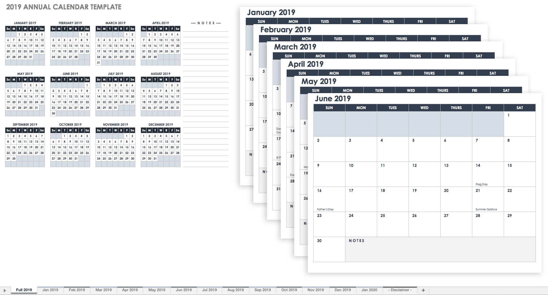 Free Printable Blank Monthly Calendar Pages With 2018 Plus