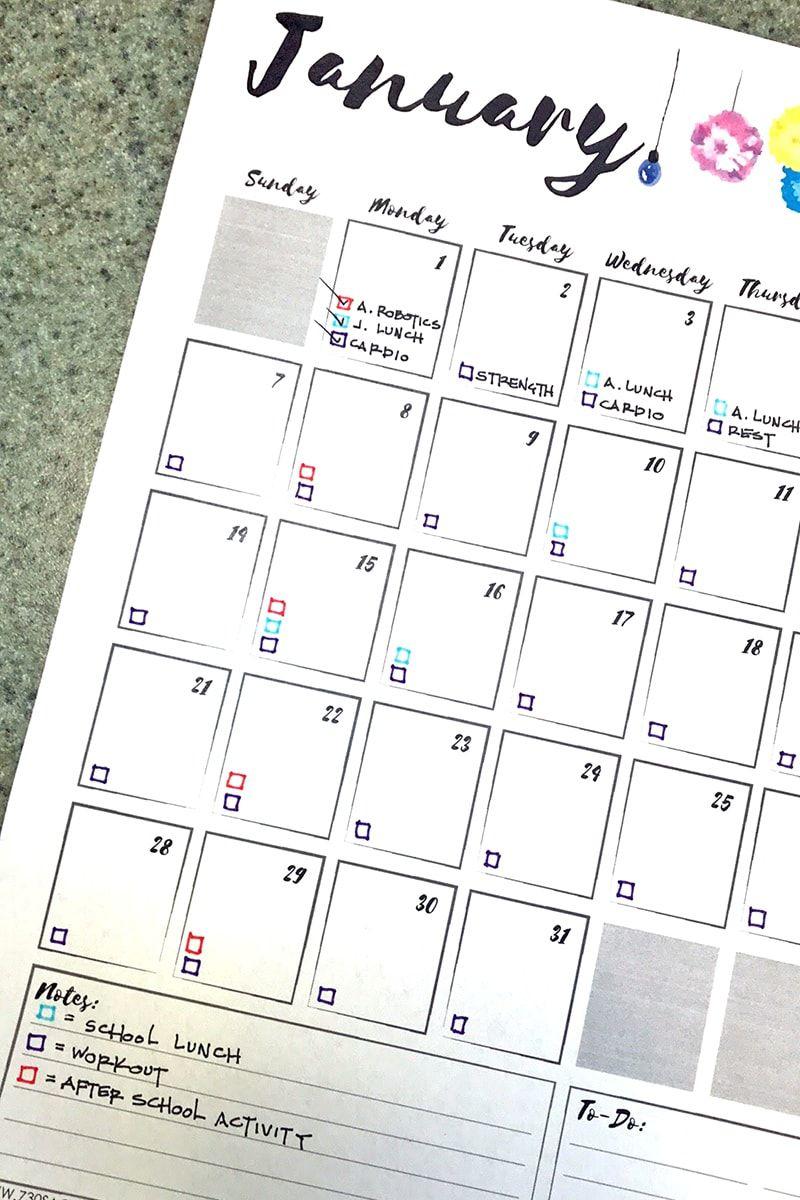 Free Printable Calendar 2018 | Get Organized | Free
