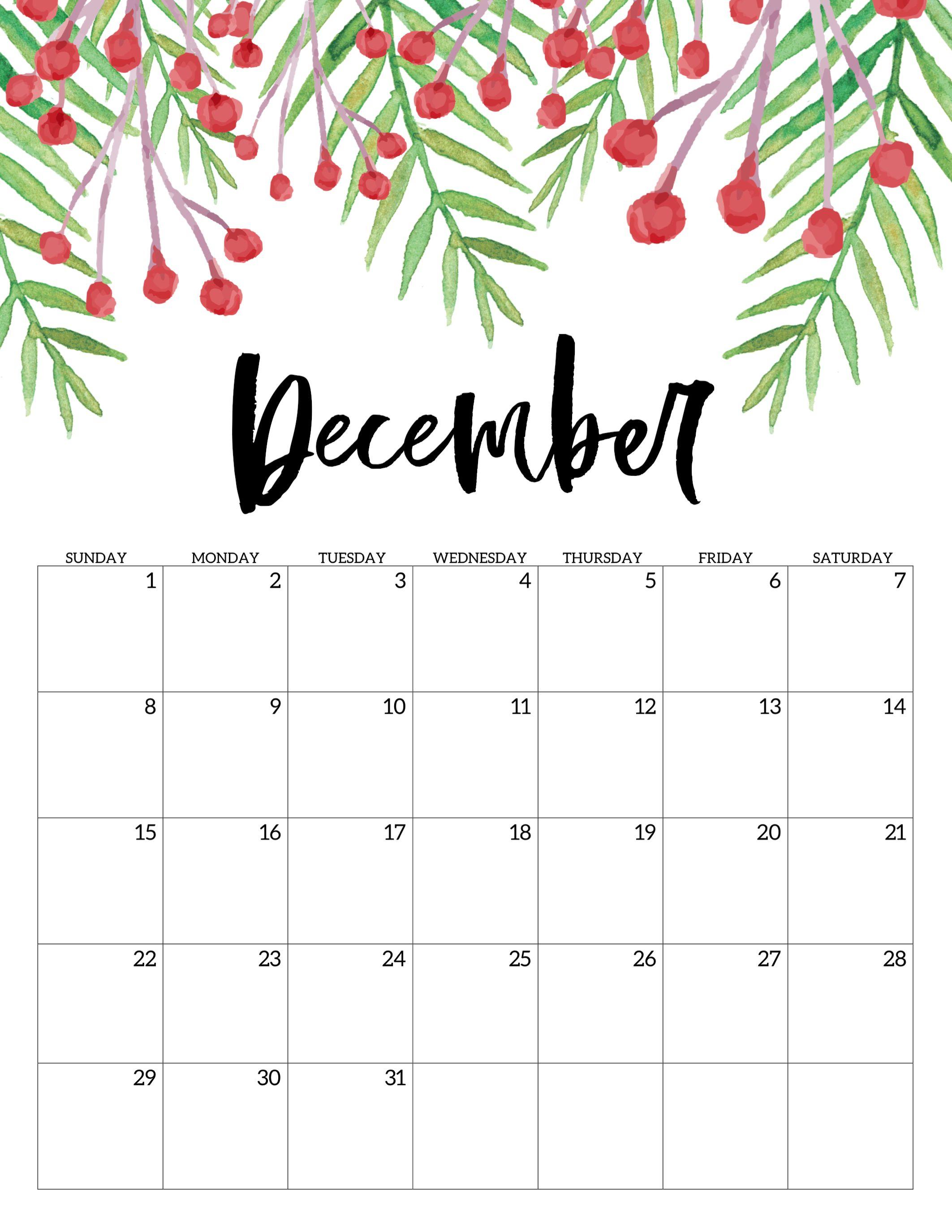 Free Printable Calendar 2019 - Floral | Adulting | Free