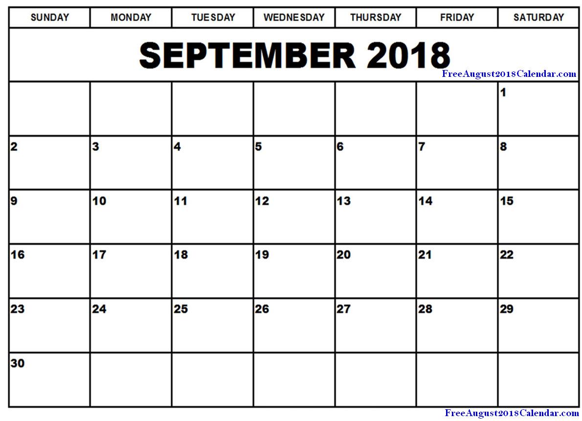 Free Printable Calendar August 2018 2017 June Editable 2019