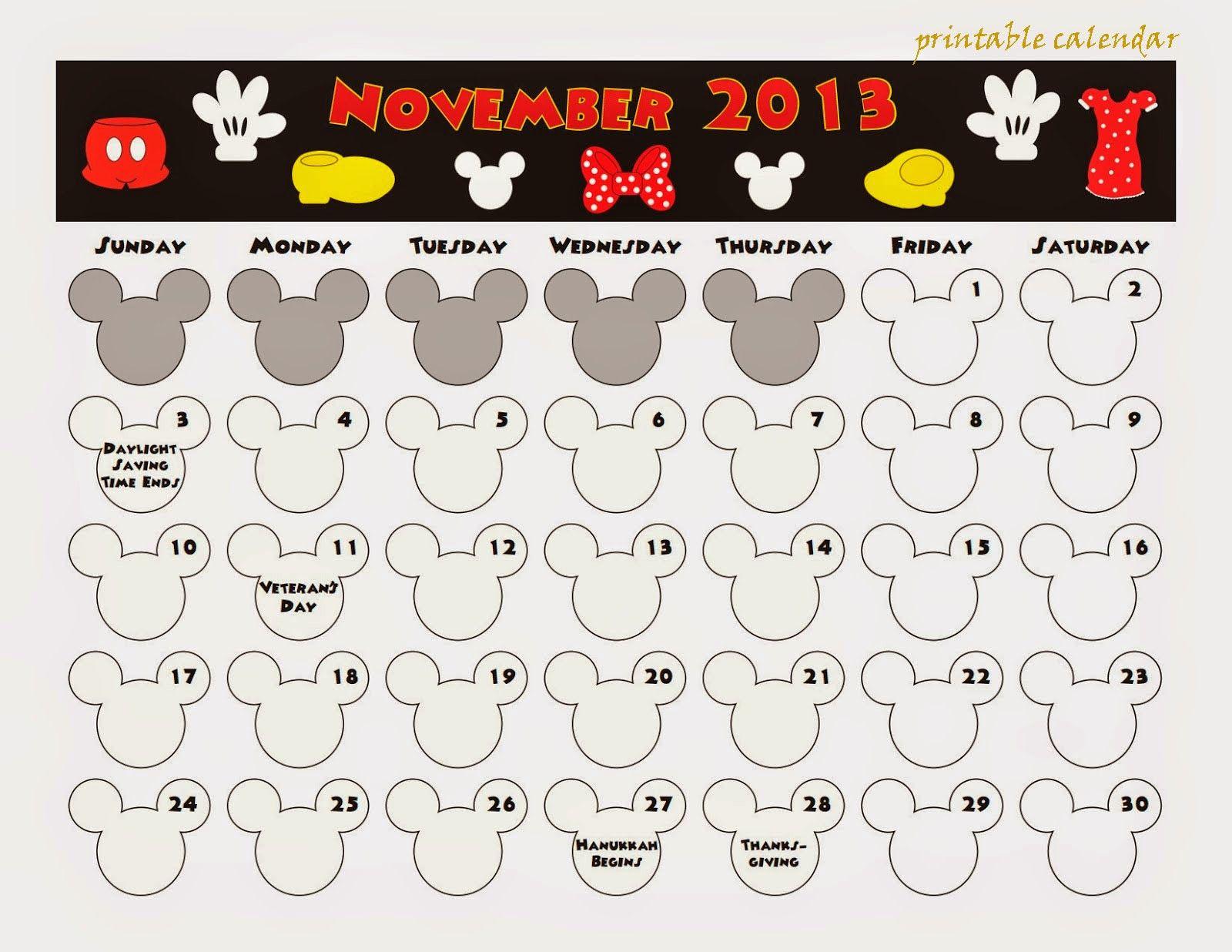 Free Printable Calendar: Free Printable Calendar November