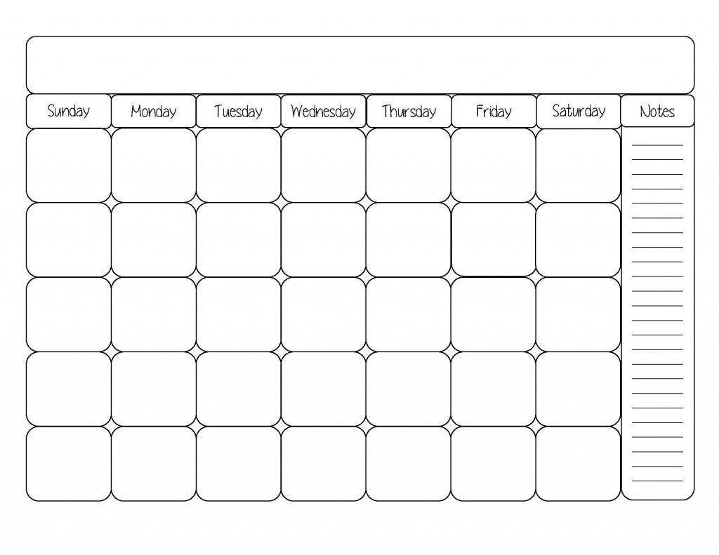 Free Printable Calendar Template | Calendars | Blank Monthly