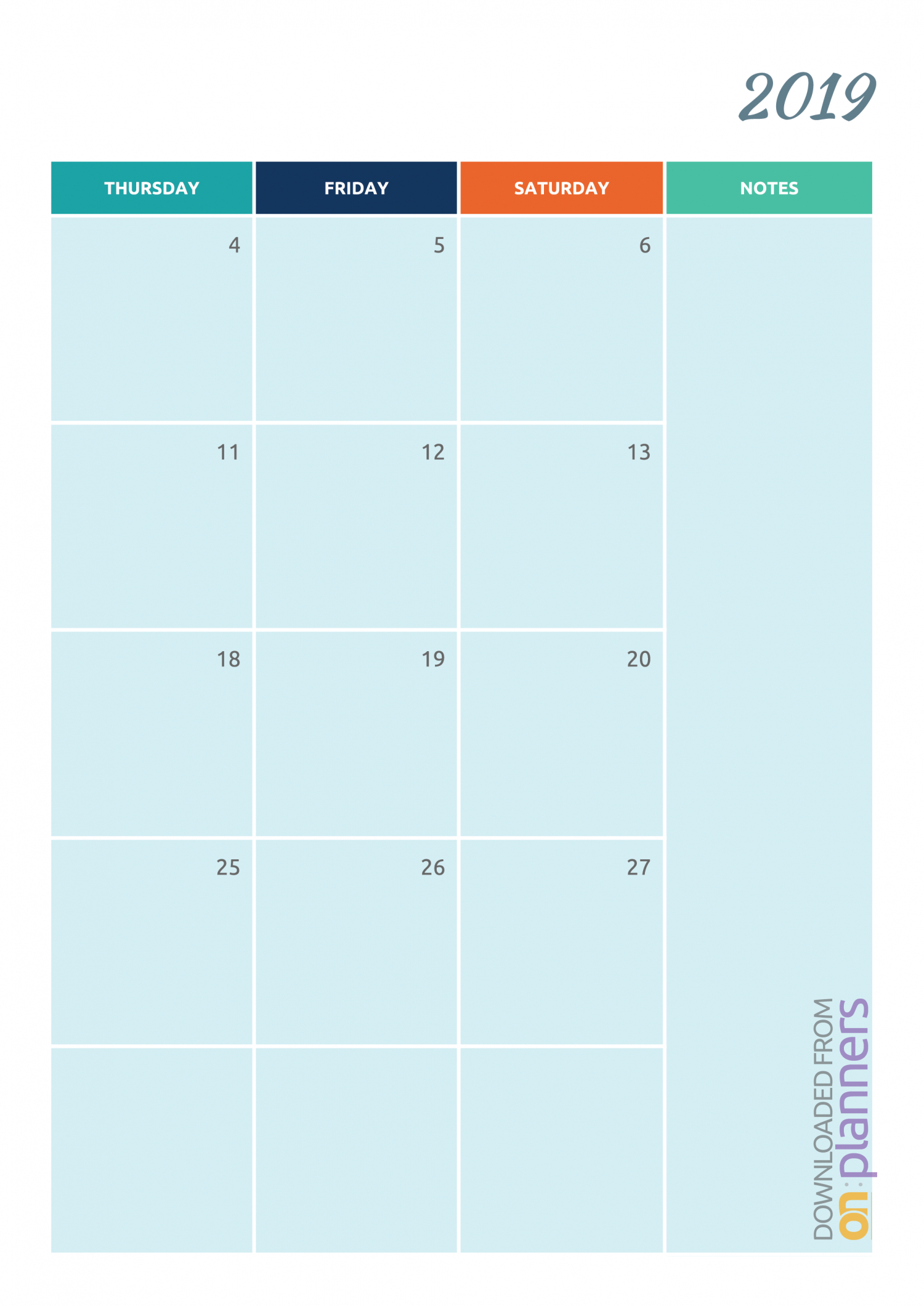 Free Printable Colorful Monthly Calendar Pdf Download