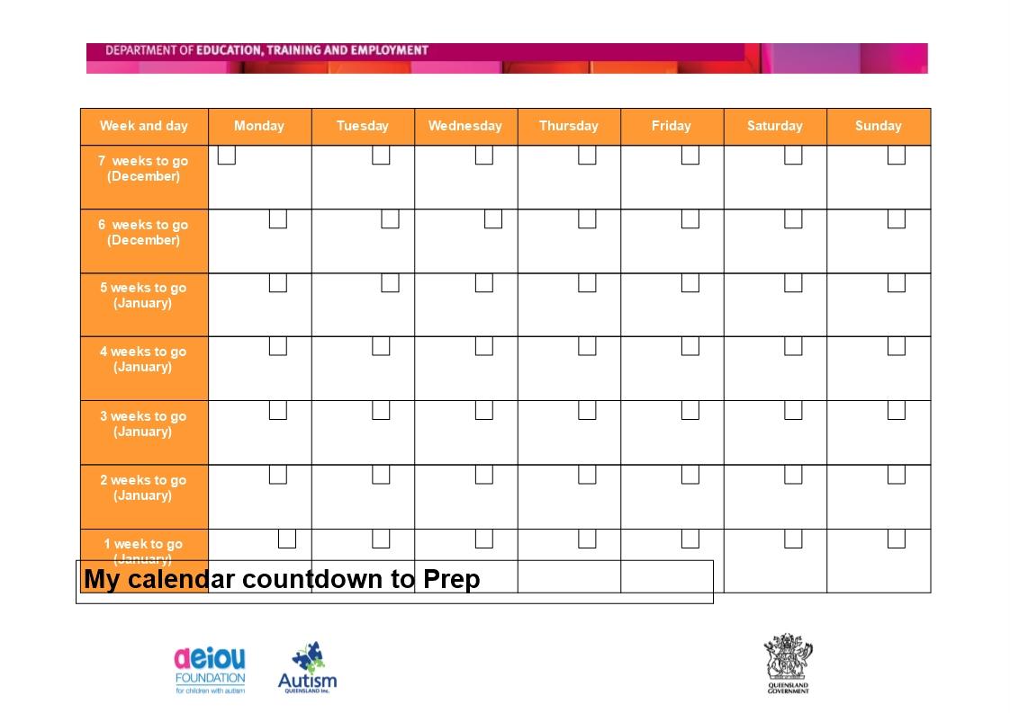 Free Printable Countdown Calendar Templates At   Isacl