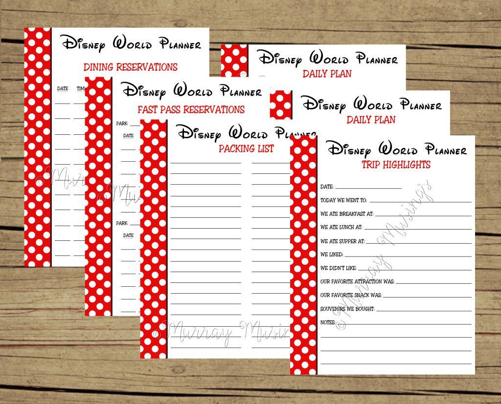 Free Printable Disney World Vacation Planner Freeprintable