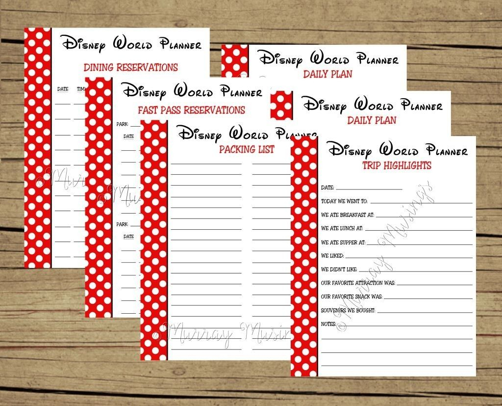 Free Printable Disney World Vacation Planner #freeprintable