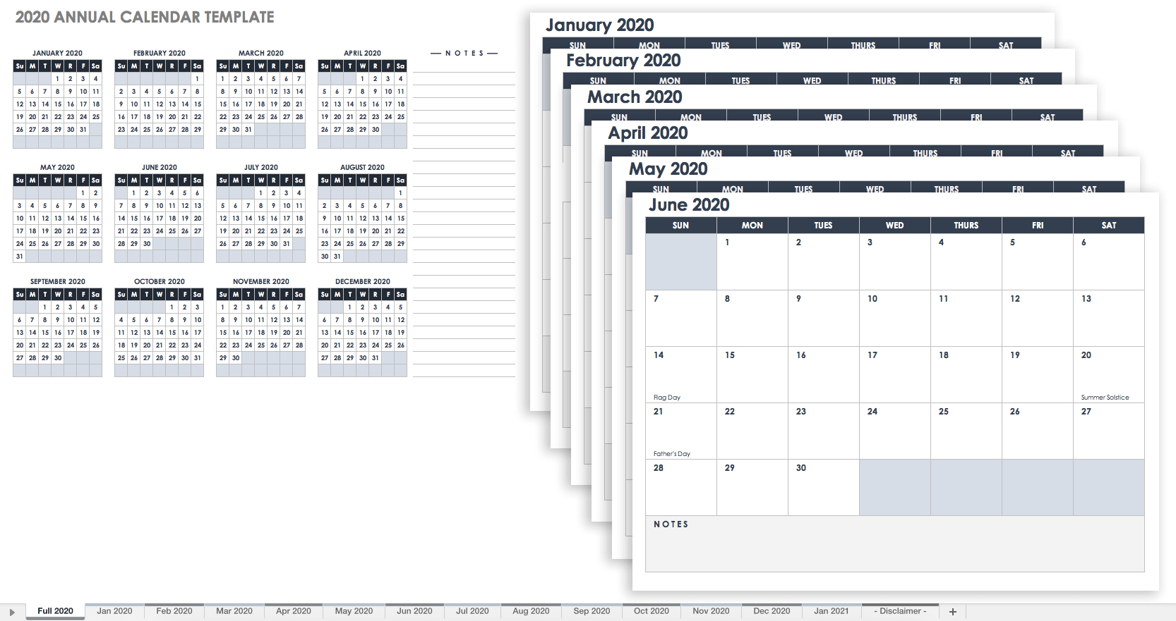 Free, Printable Excel Calendar Templates For 2019 & On