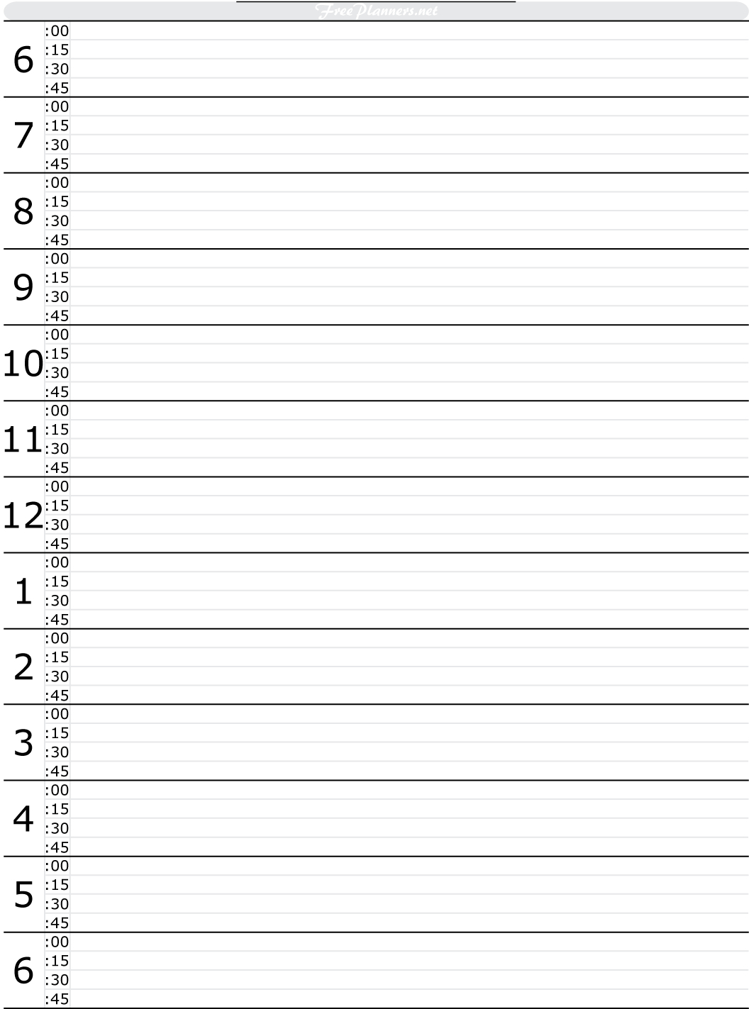Free Printable Hourly Daily Planner | Tools To Get This