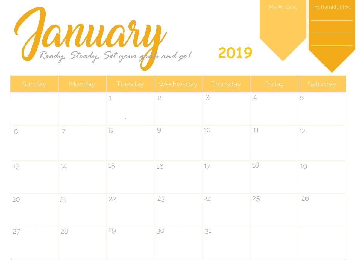 Free Printable Week Calendar 2019 Monthly Template Ndash